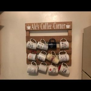 Coffee mug rack